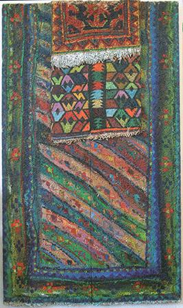 Aldo Mondino anni 90 olio su eraclite 177 x 100 cm 1