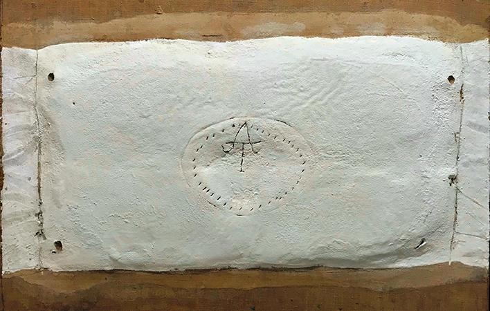 Antoni Tapies 1963 tecnica mista su tela 65 x 100 cm 1