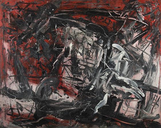 Emilio Vedova 1962 olio su tela 70 x 100 cm 2