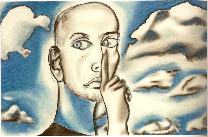 Francesco Clemente 1994 gessetti colorati su carta 66.6 x 101.6 cm 1