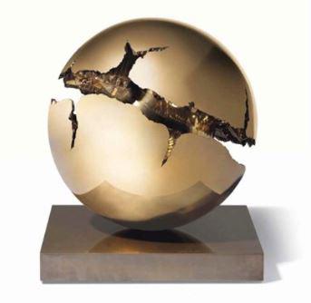 Arnaldo Pomodoro 1990  bronzo 30 cm  ed 6 of 9 2