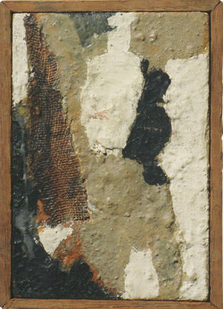Alberto Burri 1952 tecnica mista su faesite 13-5x9-5 cm 3