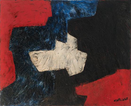 Serge Poliakoff 1960 olio su tela 81 x 100 cm 1