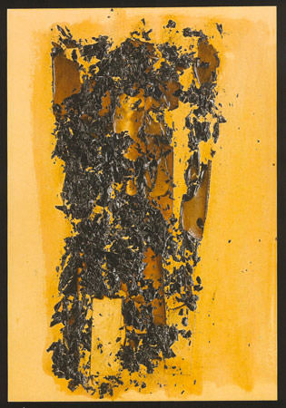 Alberto Burri 1956 carta vinavile combustione su cartoncino 35.7x26.5 cm 5
