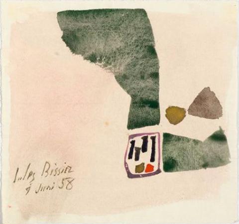 Julius Bissier 1958 Acquarello su carta 15,7 x 17,5 cm 1
